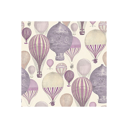Ideco Home Laurent Pink Purple Hot Air Balloon Wallpaper
