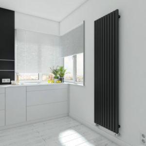 Terma Winchester Vertical Radiator Metallic Black Textured  (H)1800 mm (W)490 mm