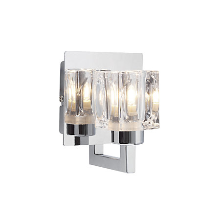 Pia glass cube chrome plated wall light departments diy at bq 000 000 aloadofball Gallery