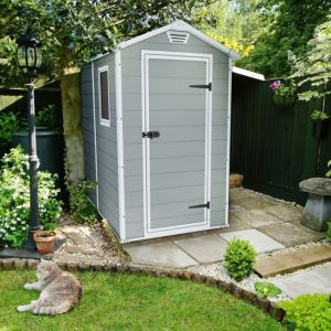 6X4 Manor Apex Double Resin Wall Plastic Shed