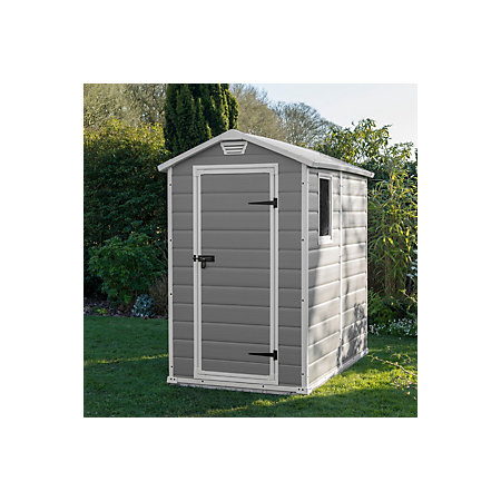 6x4 Manor Apex roof Plastic Shed   Departments   DIY at B&Q