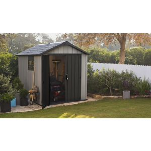 7X9 Keter Apex Double Wall Resin Plastic & Metal Shed