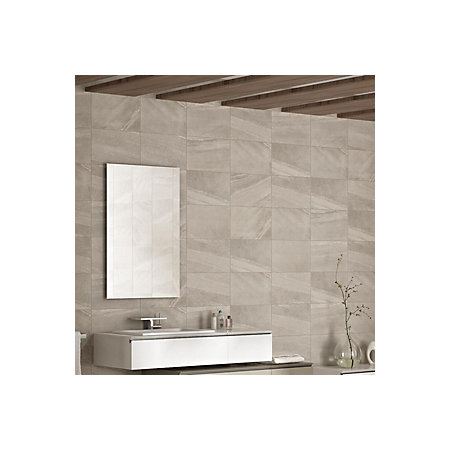 Fiji Grey Stone Effect Ceramic Wall Tile Pack Of 10 L400mm W