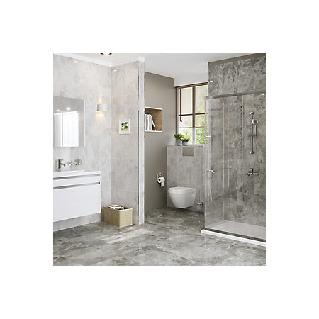 harmony grey gloss marble effect ceramic wall tile, pack