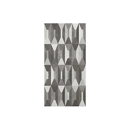memphis black & white gloss harlequin effect ceramic wall