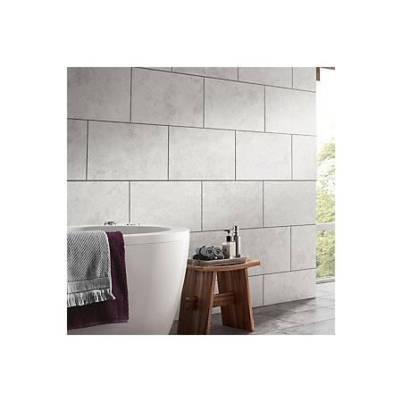 oscano light grey matt stone effect ceramic wall & floor