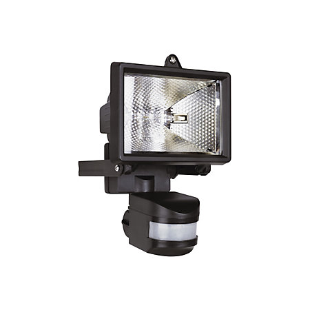 Elro black 120w mains powered external pir security light product notices asfbconference2016 Images