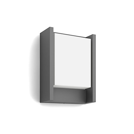 Philips Arbour Fixed Matt Anthracite Mains Ed Led Outdoor Panel Wall Light 600lm Departments Diy At B Q