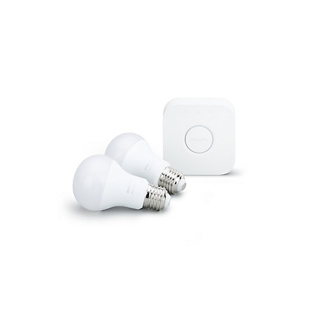 Philips Hue LED smart light bulb starter pack with bridge, E27 |  Departments | TradePoint