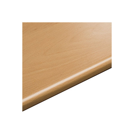 28mm beech effect round edge worktop l 3050mm d 600mm for Beech effect kitchen base units