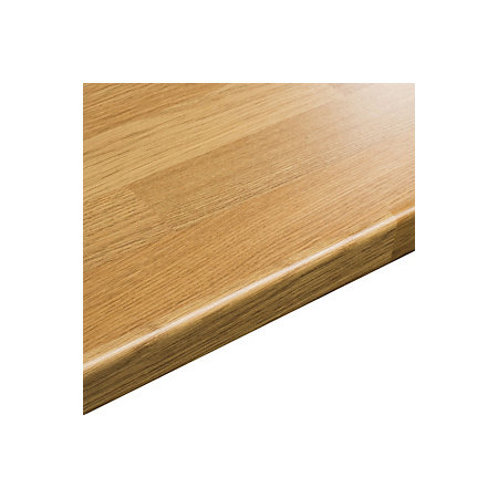 38mm B&Q Oak Block Oak Effect Round Edge Worktop (L)3000mm ...