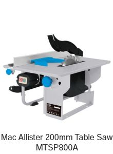 Mac Allister 200mm table saw
