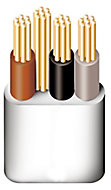 Prysmian 6243YH 1mm² 3 core & earth cable, 50m