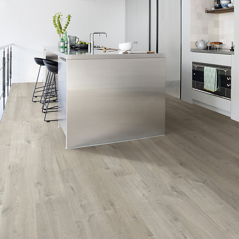Quick Step Aquanto Dark Grey Oak Effect, Light Grey Oak Effect Laminate Flooring