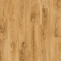 Quick-step Paso Warm oak Wood effect Laminate Flooring, 2.128m² Pack of 9