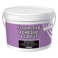 Ready mixed Grey Floor tile Adhesive & grout, 13.1kg