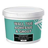 Ready mixed White Wall tile Adhesive & grout, 6.6kg