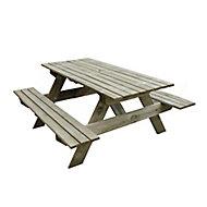 Rectangular Fixed Picnic table