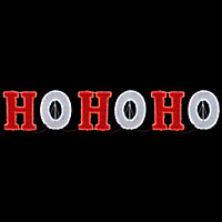Red LED Ho-Ho-Ho Tinsel silhouette