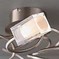 Ronan Semi-flush Chrome effect 5 Lamp Ceiling light