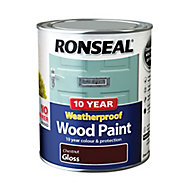 Ronseal Chestnut Gloss Wood paint, 0.75