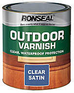 Ronseal Clear Satin Wood varnish, 2.5L