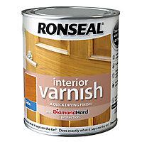 Ronseal Diamond hard Antique pine Satin Wood varnish, 0.75L