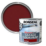 Ronseal Diamond hard Tile red Satin Garage floor paint, 2.5L