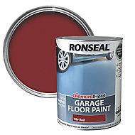 Ronseal Diamond hard Tile red Satin Garage floor paint, 5L
