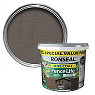 Ronseal One coat fence life Charcoal grey Matt Fence & shed Wood treatment 12