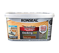 Ronseal Perfect finish Natural cedar Decking Wood oil, 2.5L