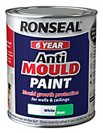 Ronseal Problem wall White Matt Anti-mould paint, 0.75L
