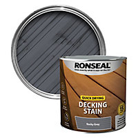 Ronseal Quick-drying Rocky grey Matt Decking Wood stain, 2.5L