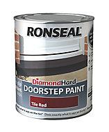 Ronseal Tile red Satin Doorstep paint, 0.75L