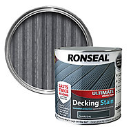 Ronseal Ultimate Charcoal Matt Decking Wood stain, 2.5