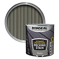 Ronseal Ultimate protection Stone grey Matt Decking Wood stain, 2.5L