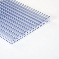 Roof pro Clear Polycarbonate Multiwall Roofing sheet (L)3m (W)1000mm (T)16mm