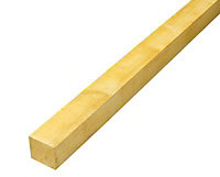 Rough sawn Whitewood Stick timber (L)2.4m (W)50mm (T)47mm, Pack of 4
