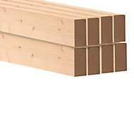 Round edge Spruce C16 CLS timber (L)2.4m (W)63mm (T)38mm, Pack of 8