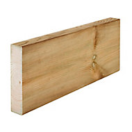 Round edge Whitewood spruce C16 Stick timber (L)3m (W)145mm (T)45mm
