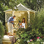 Rowlinson Gainsborough Natural Hexagonal Gazebo, (W)3m (D)2.6m