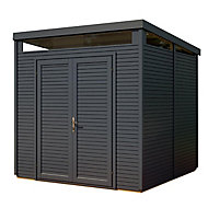 Rowlinson Paramount Buildings 8x8 Pent Tongue & groove Wooden Shed