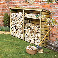 Rowlinson Pressure treated Wooden 7x2 Log store