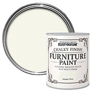 Rust-Oleum Antique white Chalky effect Matt Furniture paint, 0.75L
