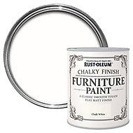 Rust-Oleum Chalk white Chalky effect Matt Furniture paint, 0.75L