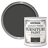 Rust-Oleum Graphite Chalky effect Matt Furniture paint, 0.75L