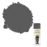 Rust-Oleum Natural effects Matt Cast iron textured effect Multi-surface Spray paint, 400ml