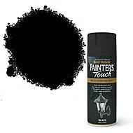 Rust-Oleum Painter's touch Black Matt Multi-surface Decorative spray paint, 400ml