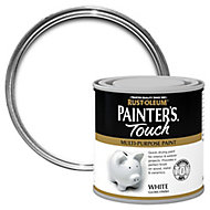 Rust-Oleum Painter's touch White Gloss Multi-surface paint, 250ml