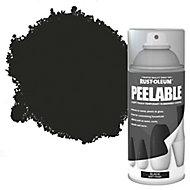 Rust-Oleum Peelable Black Matt Spray paint, 150ml